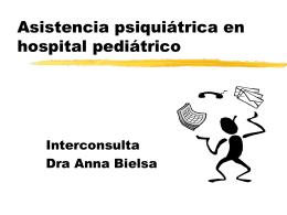 Asistencia psiquiatica en hospital pediatrico