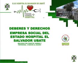 Diapositiva 1 - E.S.E Hospital El Salvador