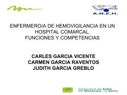 ENFERMERO/A DE HEMOVIGILANCIA EN UN HOSPITAL …