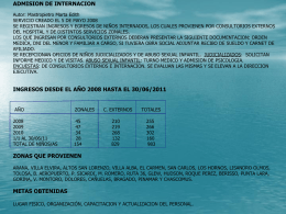 ADMIISON DE INTERNACION SERVICIO CREADO EL 5 DE …
