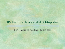 HIS Instituto Nacional de Ortopedia