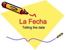 La Fecha - Cuaderno Espanol