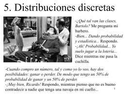 Distribuciones Discretas