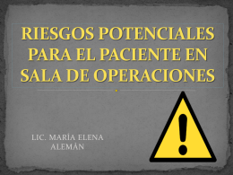 RIESGOS POTENCIALES PARA EL PACIENTE EN SALA DE …