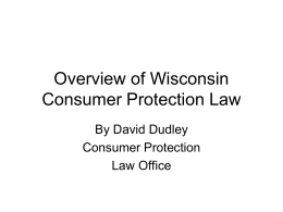 Basics of Consumer Protection Law