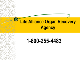 Organ Donation - MDC Faculty Home Pages