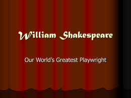 William Shakespeare - mrsbast / FrontPage