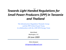 Comparison of Tanzania & Thai regulations