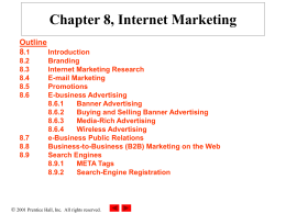 Chapter 8, Internet Marketing
