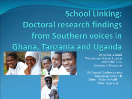 School Linking: Doctoral research findings from Southern