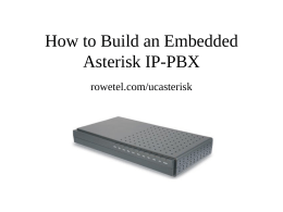 Embedded Asterisk on the Blackfin Processor