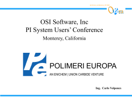 Polimeri Europa System Integration Project