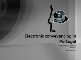 Electronic conveyancing in Portugal