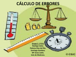 CALCULO DE ERRORES