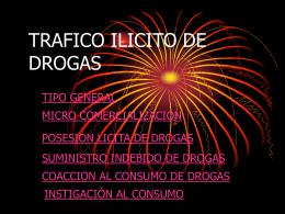 TRAFICO ILICITO DE DROGAS