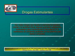 Drogas Estimulantes - Instituto Juan XXIII