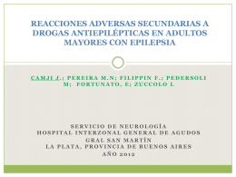 REACCIONES ADVERSAS SECUNDARIAS A DROGAS …