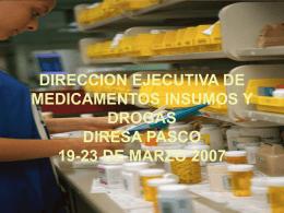 DIRECCION EJECUTIVA DE MEDICAMENTOS INSUMOS Y …
