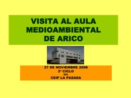VISITA AL AULA MEDIO AMBIENTAL DE ARICO (PIRS)