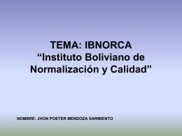 TEMA: IBNORCA - auditoriasistemasucb / FrontPage