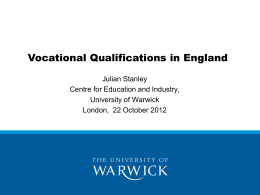 Organisations involved with Vocational Qualifications