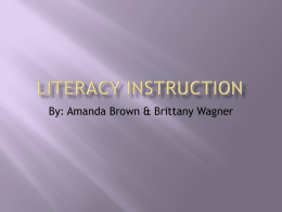 Literacy Instruction - University of Alberta
