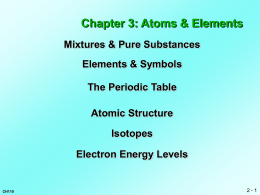 Atoms and Molecules - Chemeketa Community College