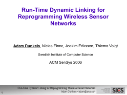 Run-Time Dynamic Linking for Reprogramming Wireless …