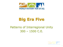 Era One - World History for Us All