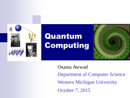 Quantum Computing - Western Michigan University