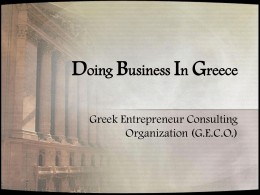 Doing Business In Greece - Oregon State University
