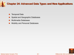 Chapter 23: Advanced Data Types and New Applications
