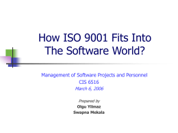 Standardization of Software Development based on ISO …