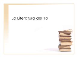 La Literatura del Yo