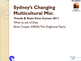 Sydney's Changing Multicultural Mix: