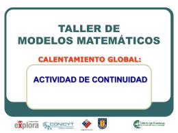 Taller Modelos Matematicos