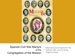 Spanish Civil War Martyrs of the Congregation of the …