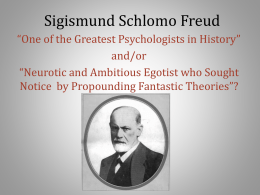 Sigmund Freud - University of Wisconsin–Platteville