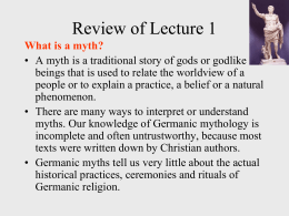 Review of Lecture 1 - Texas Tech University