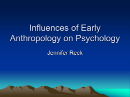 Influence of Anthropology on Psychology