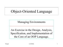 Object-Based Languages