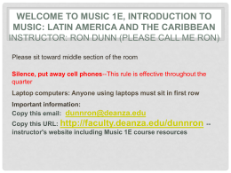 Introduction to Music: Latin America and the Caribbean