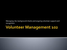 Volunteer Management 102 - Home Page | Minnesota …