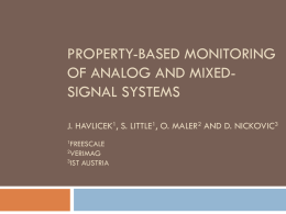 Property-based Monitoring of Analog and Mixed