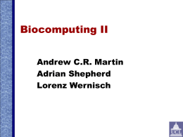 AM403 - Bioinformatics 1