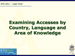 Examining Accesses by Country and Language