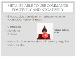 Meta: be able to use commands positively and negatively