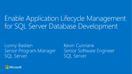 Enable Application Lifecycle Management for SQL Server