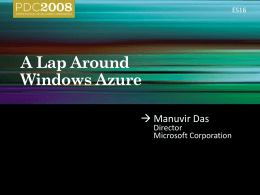 A Lap Around Windows Azure