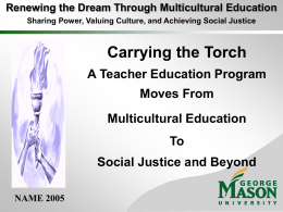 Carrying the Torch - George Mason University